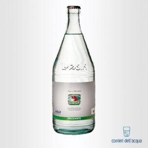 Acqua Frizzante Lurisia Classica Minatore Rosso 1 Litro Bottiglia di Vetro