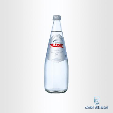 Acqua Frizzante Plose Luxury Edition 075 Litri Bottiglia di Vetro