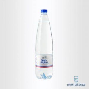 Acqua Frizzante Santo Stefano 1 Litro Bottiglia di Plastica PET