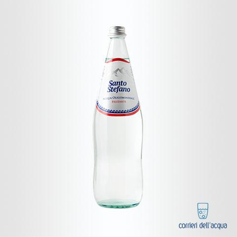 Acqua Frizzante Santo Stefano 1 Litro Bottiglia di Vetro