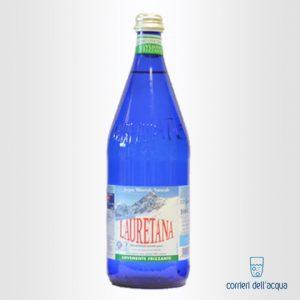 Acqua Leggermente Frizzante Lauretana 1 Litro Bottiglia di Vetro