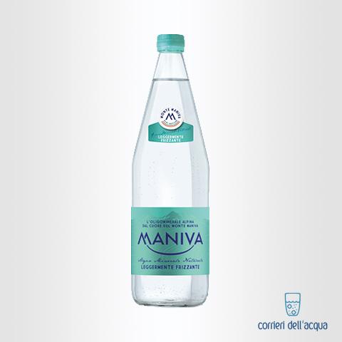 Acqua Leggermente Frizzante Maniva Classic 1 Litro Bottiglia di Vetro