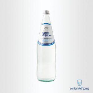 Acqua Leggermente Frizzante Santo Stefano 1 Litro Bottiglia di Vetro