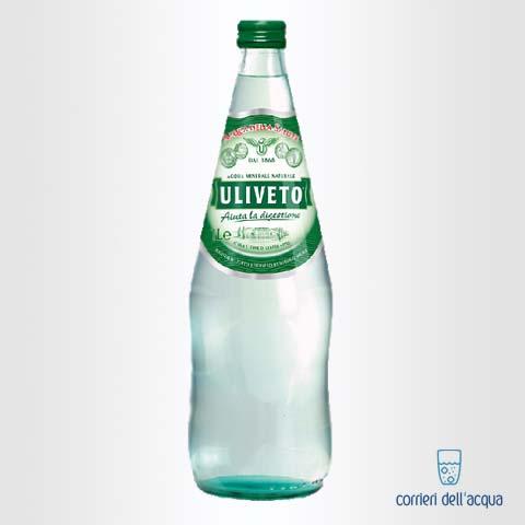 Acqua Leggermente Frizzante Uliveto 1 Litro Bottiglia di Vetro