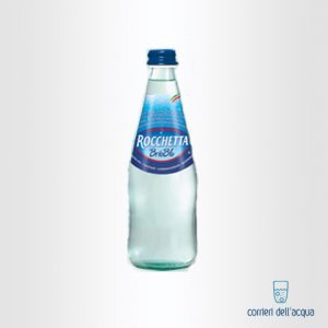 Acqua Lievemente Frizzante Brio Blu Rocchetta 0,5 Litri Bottiglia di Vetro