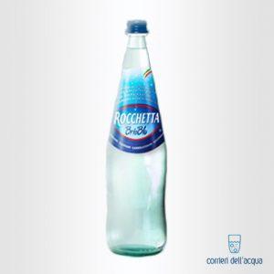 Acqua Lievemente Frizzante Brio Blu Rocchetta 1 Litro Bottiglia di Vetro
