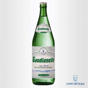 Acqua Lievemente Frizzante Gaudianello Monticchio 1 Litro Bottiglia di Vetro Verde