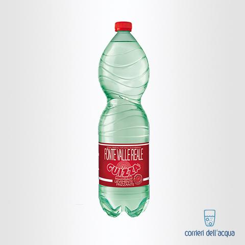 Acqua Lievemente Frizzante Gran Guizza Fonte Valle Reale 1,5 Litri Bottiglia di Plastica