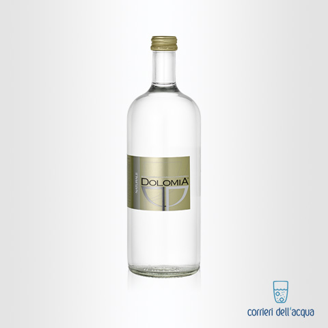 Acqua Naturale Dolomia 075 Litri Bottiglia di Vetro Exclusive