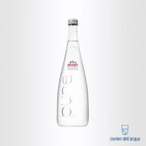 Acqua Naturale Evian 075 Litri Bottiglia di Vetro