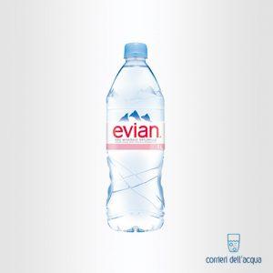 Acqua Naturale Evian 1 Litro Bottiglia di Plastica PET