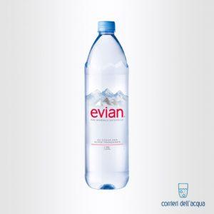 Acqua Naturale Evian 1,25 Litri Bottiglia di Plastica PET