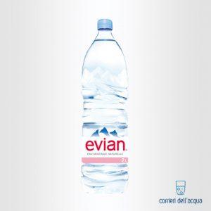 Acqua Naturale Evian 2 Litri Bottiglia di Plastica PET