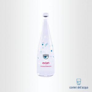 Acqua Naturale Evian Chiara Ferragni 075 Litri Bottiglia di Vetro