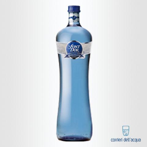 Acqua Naturale Font DOr 1 Litro Bottiglia di Vetro