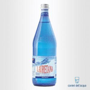 Acqua Naturale Lauretana 1 Litro Bottiglia di Vetro