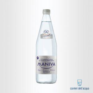 Acqua Naturale Maniva Classic 1 Litro Bottiglia di Vetro